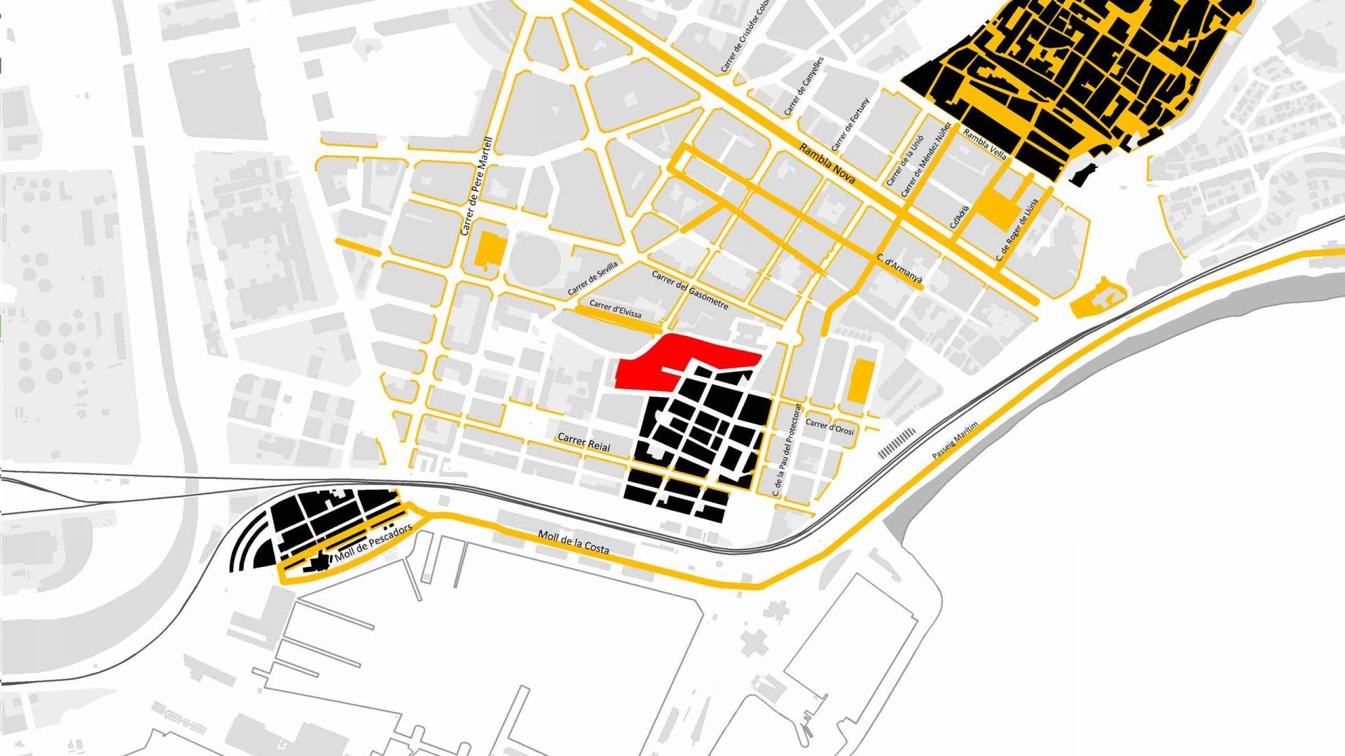 Eixos cívics i de prioritat per al vianant a Tarragona