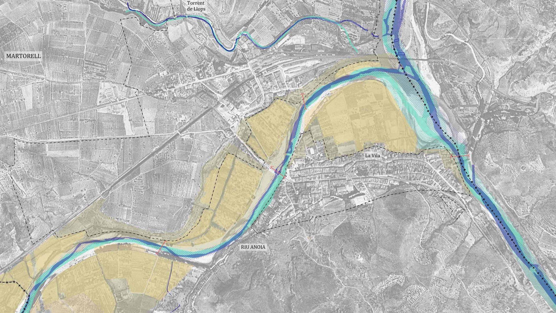 Els fluxos de l'aigua del riu Anoia
