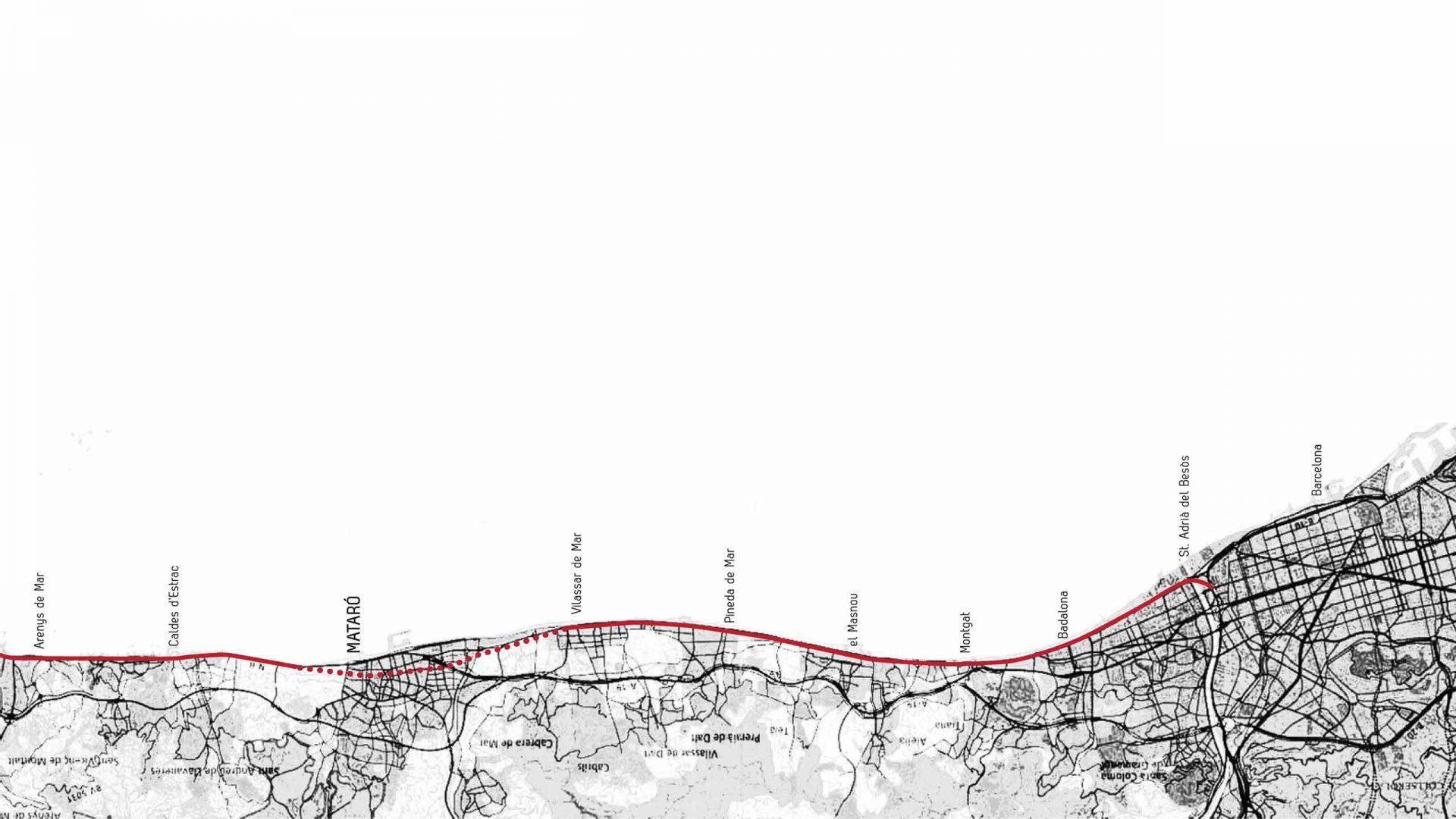 Problemàtica del pas de la línea ferroviària del Maresme per Mataró.