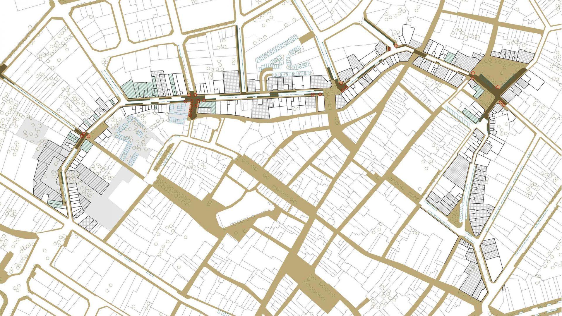 Estratègia projectual 2: millora orientada i seqüencial de la urbanització del perímetre del centre històric.