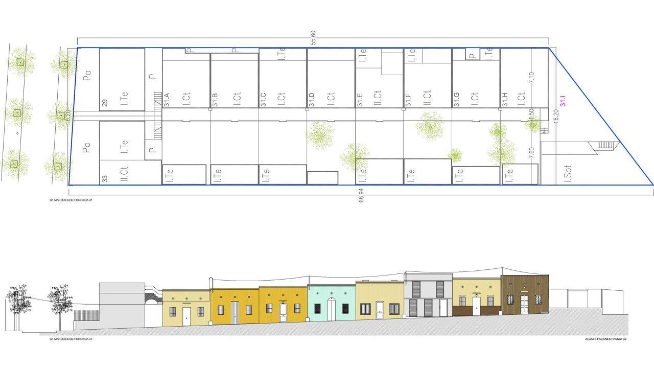 Alçats dels habitatges del passatge