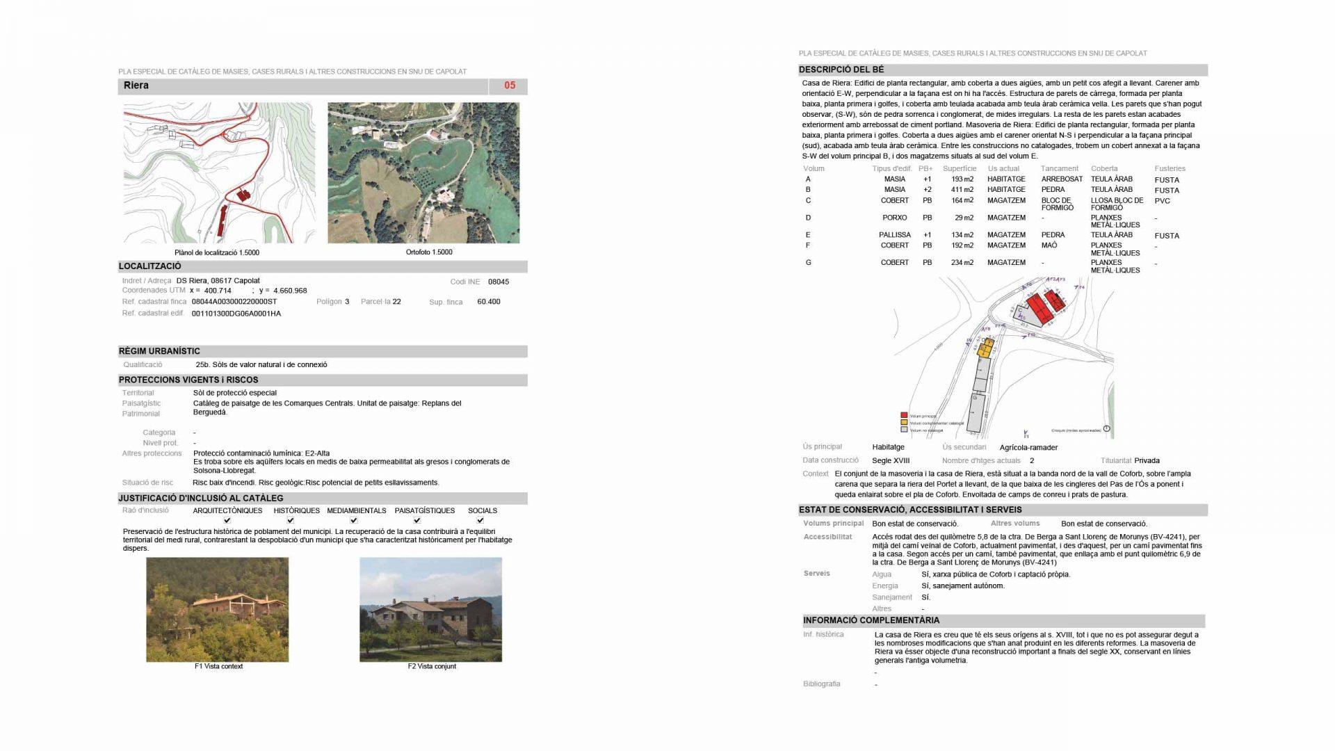 pàgines extretes del annex de les fitxes del catàleg