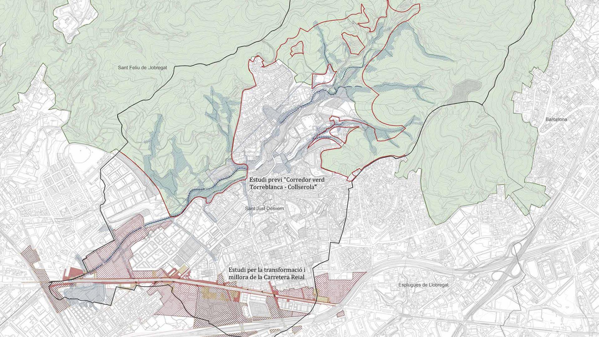 Propostes existents de transformació urbanística a Sant Just Desvern