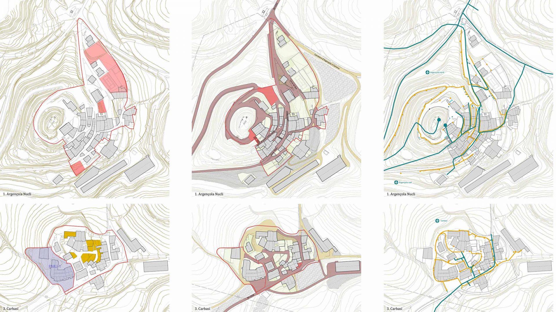 Estudi dels diferents nuclis urbans a nivell del potencial d'habitatges en sòl urbà, l'estat de urbanització i les xarxes de serveis urbans.