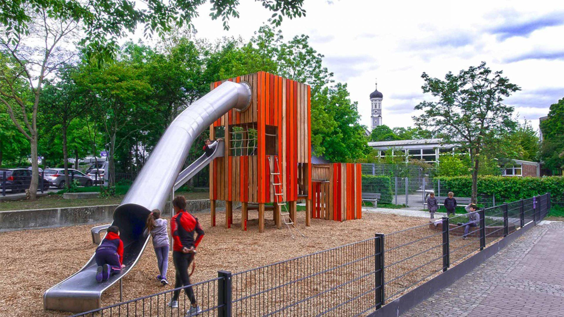 Imatge d'un àrea de joc infantil